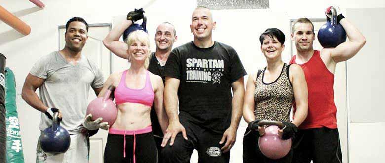 Csürke Csaba Saprtan Kettlebell edzés után a tanítványaival